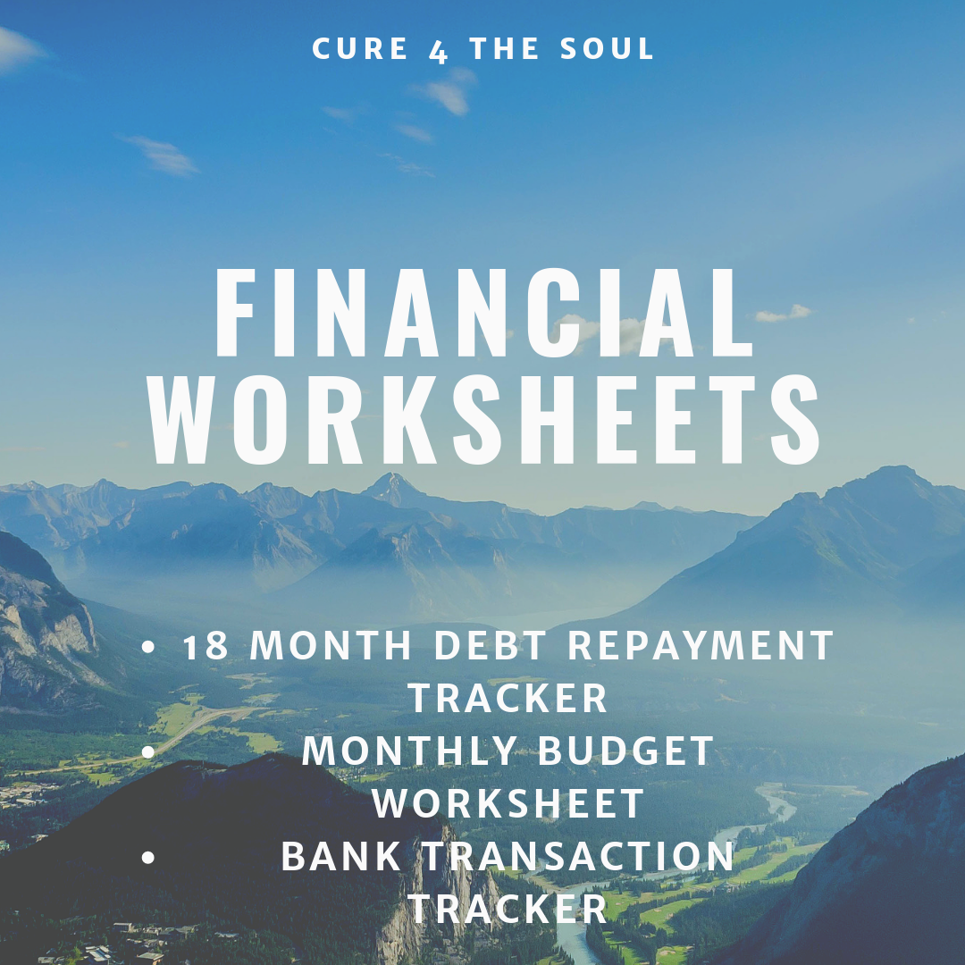 Financial worksheets for budgeting. Free Printable